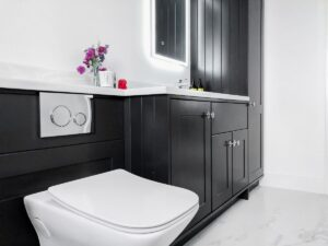 Custom vanity unit handmade in Wexford bathroom refurb