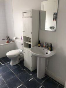 Gorey bathroom renovation image showing existing sink and toilet