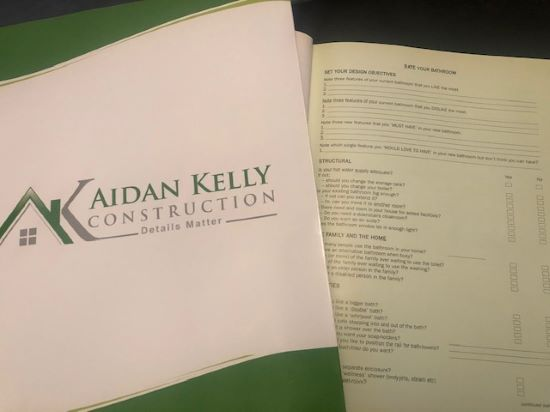 Project Consultation for a bathroom renovation project by Aidan Kelly Construction