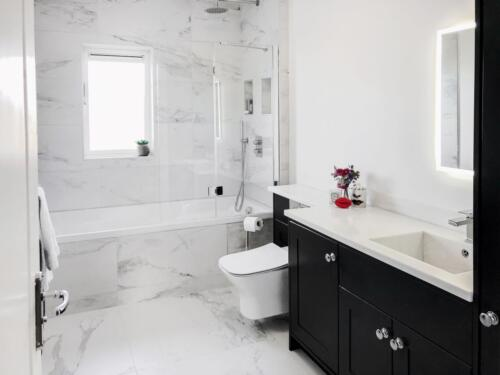 Gorey bathroom renovation with wall hung toilet